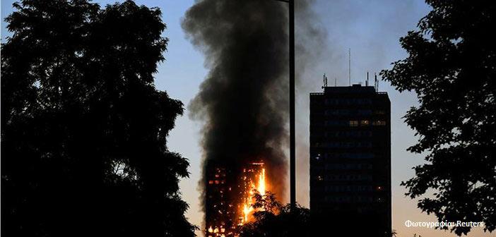 Πυρκαγιά σε κτίριο 24 ορόφων στο δυτικό Λονδίνο