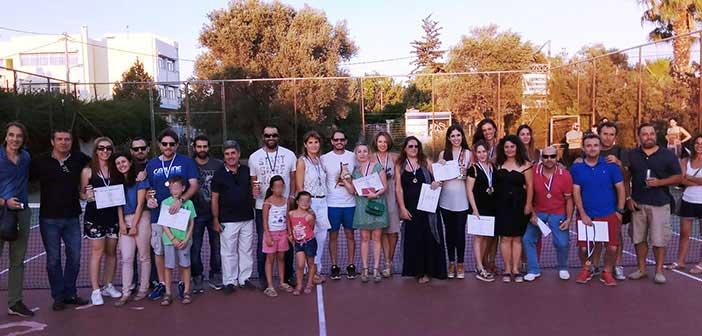 Επιτυχημένο τουρνουά τένις ενηλίκων των προγραμμάτων Δήμου Αμαρουσίου