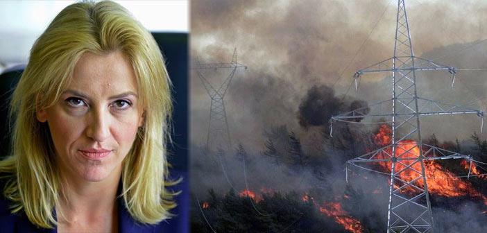 Ρ. Δούρου: Συγκεκριμένες προτάσεις ενάντια στη… νομοτέλεια των πυρκαγιών