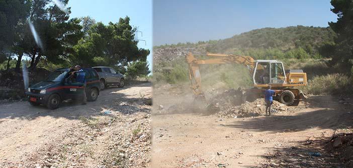 Εκτεταμένες εργασίες αποκομιδής μπαζών από τον ΣΠΑΠ στο πρ. Λατομείο Ράικου