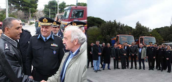 Επίσκεψη του αρχηγού του Πυροσβεστικού Σώματος του Ισραήλ στην Πεντέλη