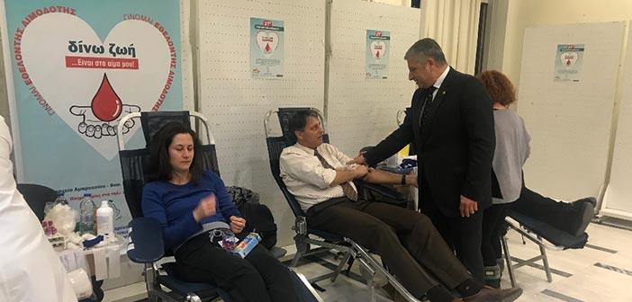 Με 143 μονάδες αίματος ενισχύθηκε η Δημοτική Τράπεζα Αίματος Αμαρουσίου