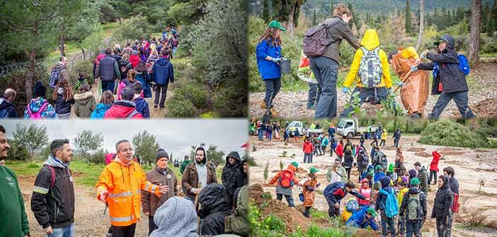 500 δένδρα φυτεύθηκαν στους πρόποδες του Υμηττού στη δράση «GreenAthlon»