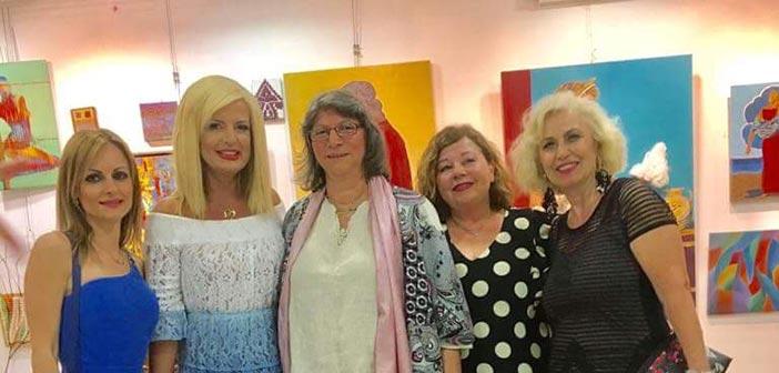 Στα εγκαίνια της έκθεσης ζωγραφικής ενηλίκων με θέμα «Πηνελόπη» η Μ. Πατούλη-Σταυράκη