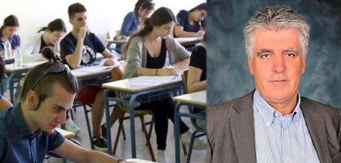 Β. Ζορμπάς: Οι στόχοι των νέων δεν σταματούν στις πανελλήνιες εξετάσεις