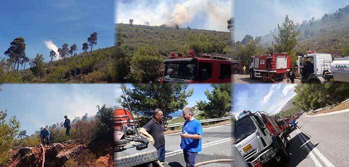 Ακαριαία επέμβαση του ΣΠΑΠ στην πυρκαγιά που ξέσπασε στον Άγιο Πέτρο, στη Ν. Μάκρη