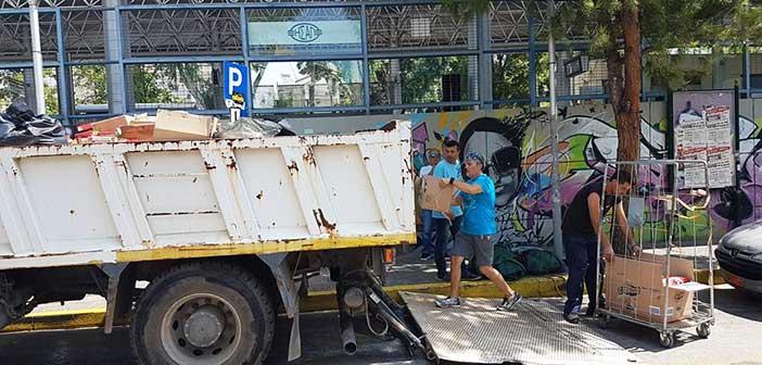 Ακόμη ένα φορτηγό με προσφορές Ηρακλειωτών παραδόθηκε για τους πυρόπληκτους