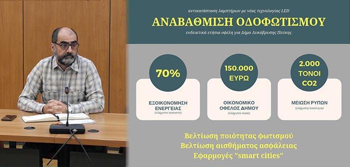 Λυκόβρυση Πεύκη.-: Πολύπλευρα οφέλη προσφέρει η ενεργειακή αναβάθμιση του οδοφωτισμού στον Δήμο