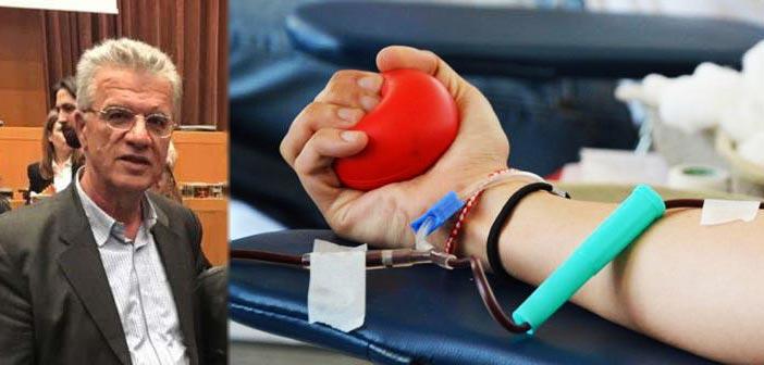 Έκκληση Γ. Θεοδωρακόπουλου για συμμετοχή στην εθελοντική αιμοδοσία