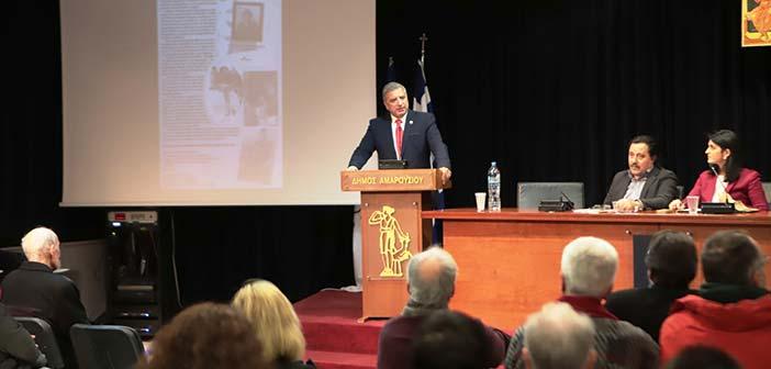 Την παρουσίαση βιβλίου για τον Νίκο Καπετανίδη χαιρέτισε ο δήμαρχος Αμαρουσίου