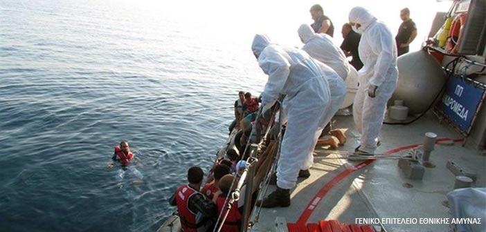 Διάσωση 45 μεταναστών ανατολικά του Φαρμακονησίου