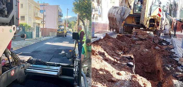 Δήμος Αγ. Παρασκευής: Ολοκληρώνεται το έργο ομβρίων σε 15 οδούς της πόλης