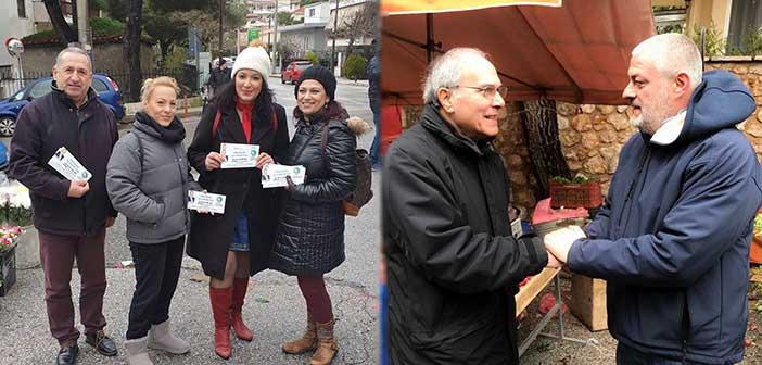 Ο υποψήφιος δήμαρχος Πεντέλης Λ. Κοντουλάκος στη λαϊκή αγορά Ν. Πεντέλης