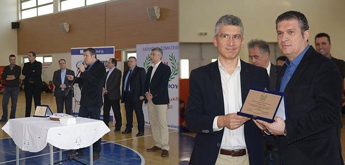 Η Νίκη Αμαρουσίου τίμησε τον πρόεδρο της ΚΕΔΑ Νίκο Πέππα
