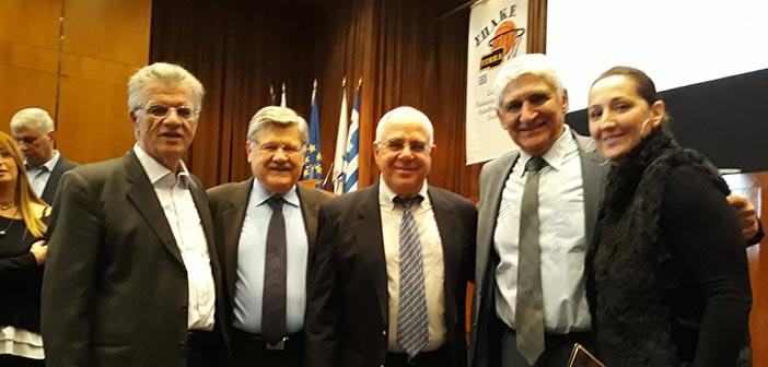 Ο Γ. Θεοδωρακόπουλος στη γιορτή για τα 100 χρόνια του ελληνικού μπάσκετ