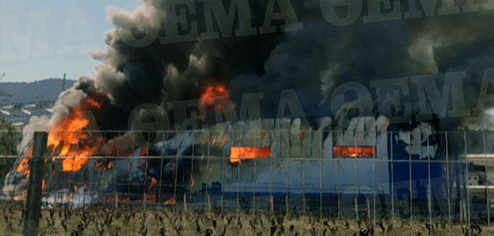 Ολοσχερής καταστροφή αποθήκης με φαρμακευτικό υλικό από τη μεγάλη φωτιά στα Γλυκά Νερά