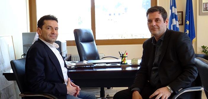 Συνάντηση του υποψηφίου περιφερειακού συμβούλου Ν. Πέππα με τον δήμαρχο Διονύσου
