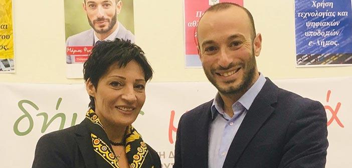 Η Νότα Σοκορέλη υποψήφια με τον Μάριο Ψυχάλη