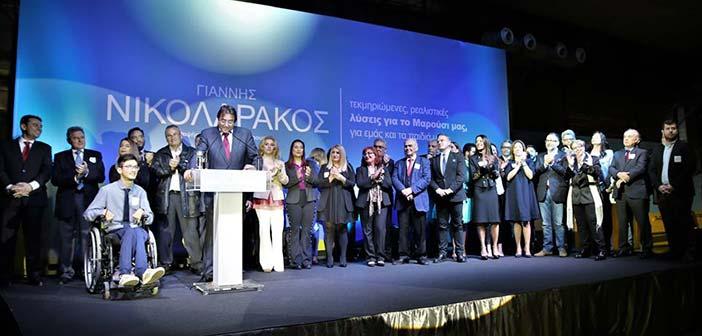 Παρουσίασε τους υποψηφίους συμβούλους του ο Γ. Νικολαράκος