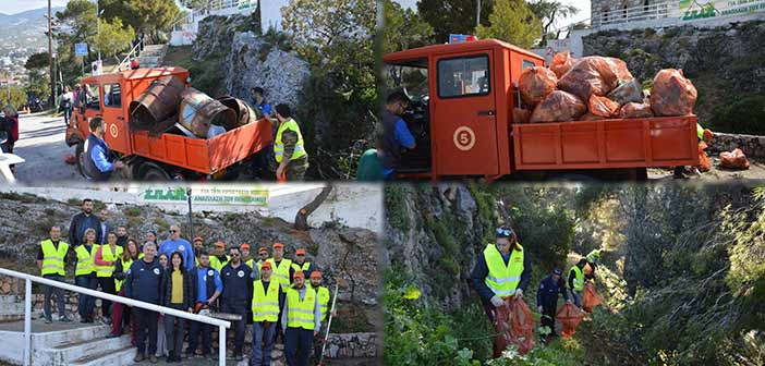 Με μεγάλη επιτυχία ο καθαρισμός στον Λόφο Πρ. Ηλία, στη Ν. Πεντέλη