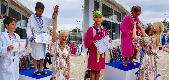 Τους νικητές στους εσωτερικούς αγώνες κολύμβησης Δήμου Αμαρουσίου επιβράβευσε η Μ. Πατούλη-Σταυράκη