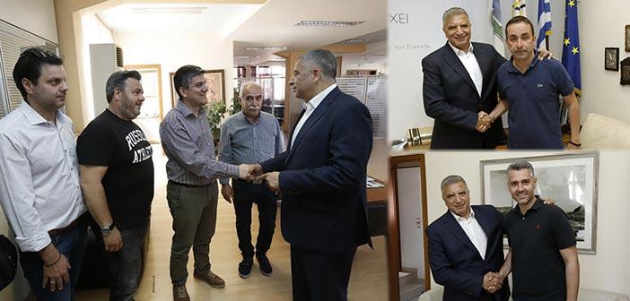 Στο πλευρό του υποψήφιου περιφερειάρχη Αττικής Γ. Πατούλη ο δήμαρχος Γαλατσίου και ο επικεφαλής της μείζονος