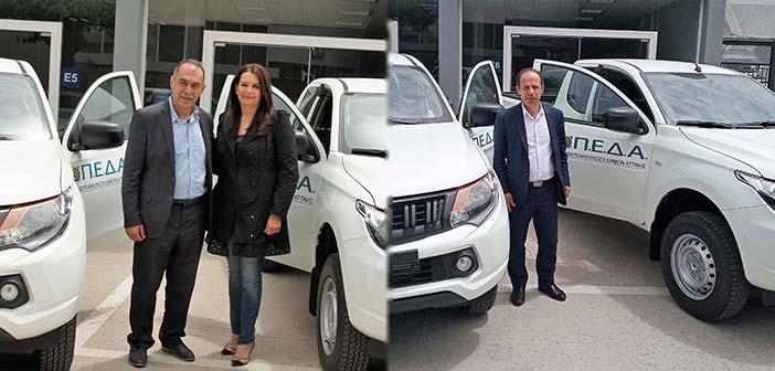 ΠΕΔΑ: Δωρεά δύο οχημάτων στους Δήμους Ραφήνας-Πικερμίου & Μάνδρας-Ειδυλλίας