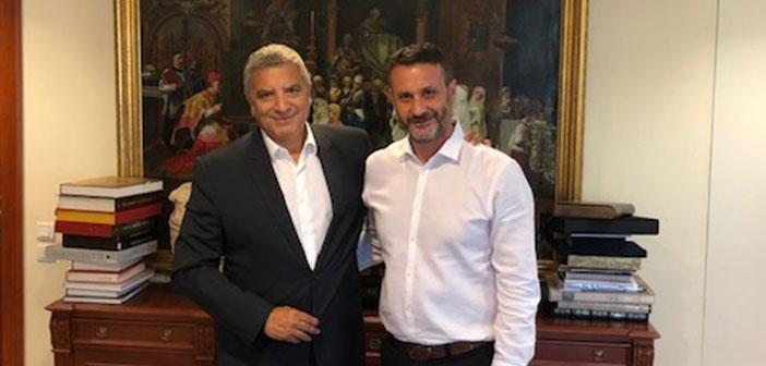Συνάντηση Γ. Πατούλη με τον νεοεκλεγέντα δήμαρχο Σαλαμίνας