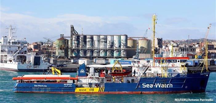Ιταλία: Αυξάνεται η ένταση με το «Sea Watch», που παραμένει μπλοκαρισμένο με 42 μετανάστες