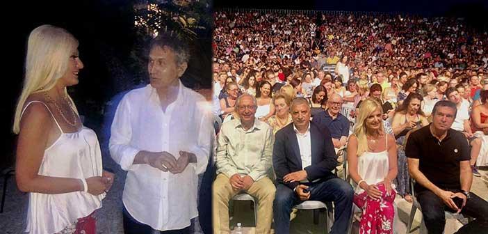 Στη συναυλία του Γιώργου Νταλάρα στο Φεστιβάλ Αμαρουσίου η Μ. Πατούλη-Σταυράκη
