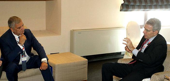 Συνάντηση του νέου περιφερειάρχη Αττικής Γ. Πατούλη με τον Αμερικάνο πρέσβη