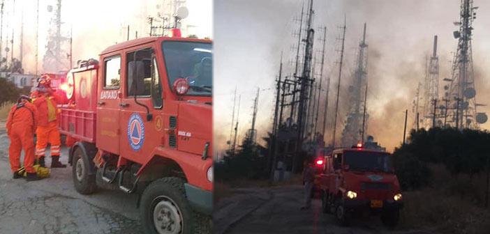 Στη μάχη κατά της πυρκαγιάς στον Υμηττό ο Δήμος Παπάγου – Χολαργού και η ΔΑΠΑΧΟ
