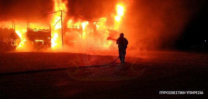 Πυρκαγιά σε υπεραγορά στη Λ. Ανθούσας – Ένα άτομο με αναπνευστικά προβλήματα