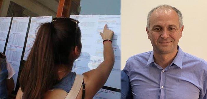Συγχαρητήρια Στρ. Σαραούδα στους επιτυχόντες στις Πανελλαδικές