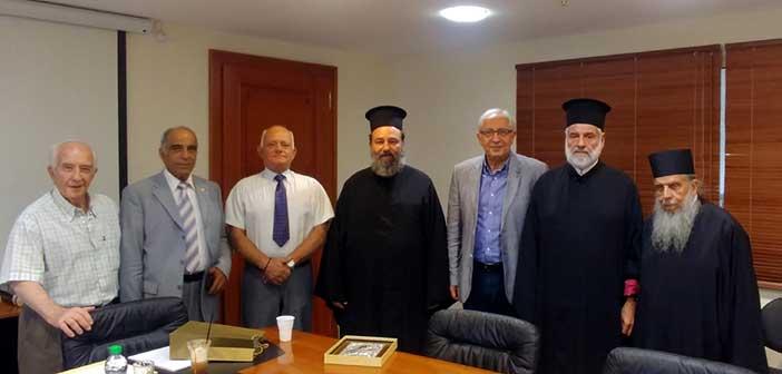Συνάντηση Θ. Αμπατζόγλου με τον Ιερό Κλήρο του Ι.Ν. Κοιμήσεως Θεοτόκου Αμαρουσίου