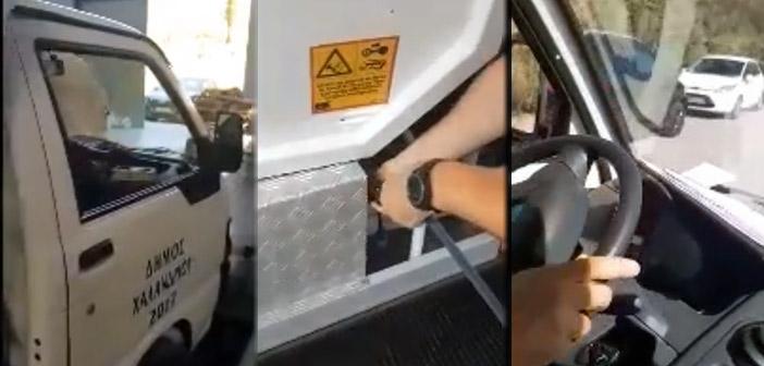 Απορριμματοφόρο με βιοαεριοκίνηση στους δρόμους του Χαλανδρίου