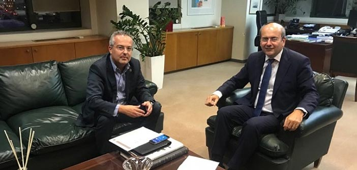 Για θέματα διαχείρισης αποβλήτων συζήτησαν Κ. Χατζηδάκης και Ηλ. Αποστολόπουλος