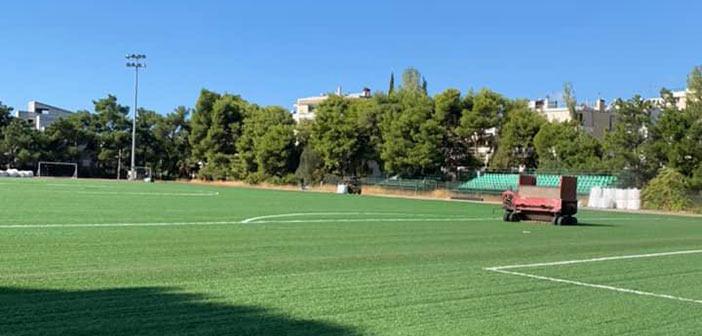 Προχωρά η ανακατασκευή του ταρτάν στο γήπεδο Πεύκης