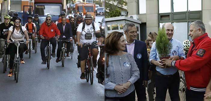 Στην ποδηλατοδρομία στη Βόρεια Αθήνα ο περιφερειάρχης Αττικής