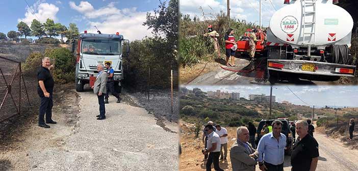 Άμεση επέμβαση ΣΠΑΠ στην κατάσβεση πυρκαγιών σε Μαραθώνα και Λαγονήσι