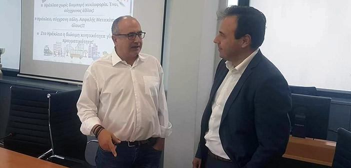 Με τον δήμαρχο Τρικκαίων συναντήθηκε ο Νίκος Μπάμπαλος