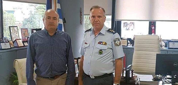 Συνάντηση δημάρχου Ηρακλείου Αττικής με τον νέο διοικητή της Αστυνομικής Δ/νσης Β/Α Αττικής