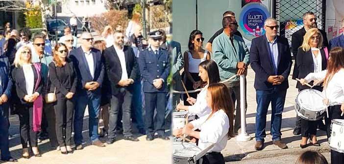 Εκπρόσωποι του συνδυασμού Μπροστά Μαζί στον εορτασμό της 28ης Οκτωβρίου στον Δήμο Πεντέλης