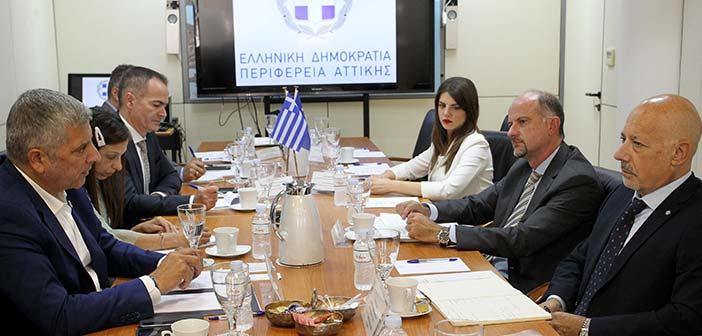 Συνάντηση περιφερειάρχη Αττικής με στελέχη του ΟΗΕ για στενότερη συνεργασία και ανάπτυξη κοινών δράσεων
