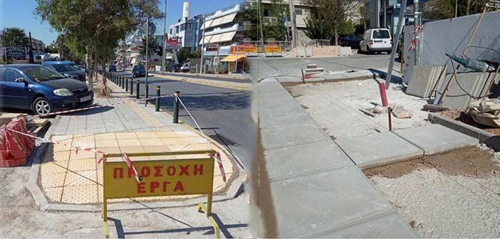 Σε εξέλιξη έργα αποκατάστασης πεζοδρομίων και διαβάσεων ΑμεΑ στον Δήμο Βριλησσίων
