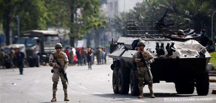 Συνεχίζονται οι ταραχές στη Χιλή – Πινιέρα: Βρισκόμαστε σε πόλεμο