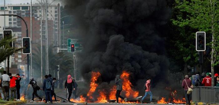 Χιλή: Τρίτη νύχτα απαγόρευσης κυκλοφορίας