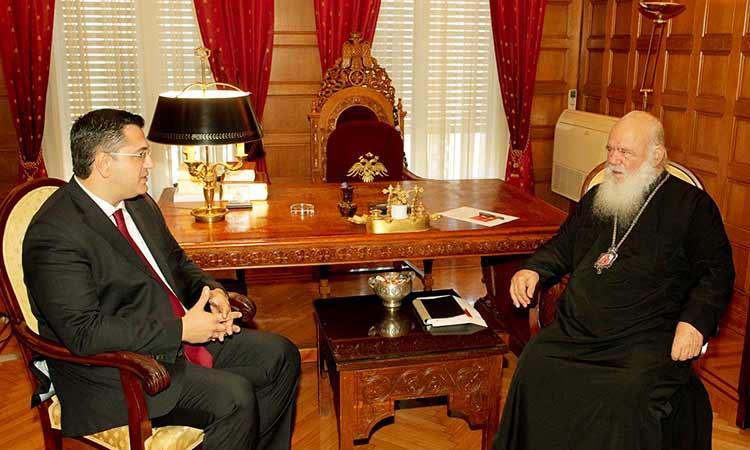 Με τον αρχιεπίσκοπο Ιερώνυμο συναντήθηκε ο νέος πρόεδρος της ΕΝΠΕ