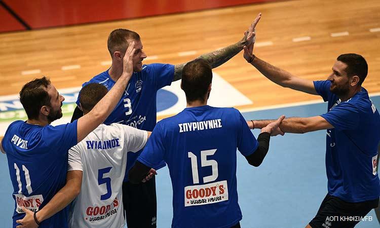 Πρώτη εκτός έδρας νίκη για τον ΑΟΠ Κηφισιάς στην 4η αγωνιστική της VolleyLeague