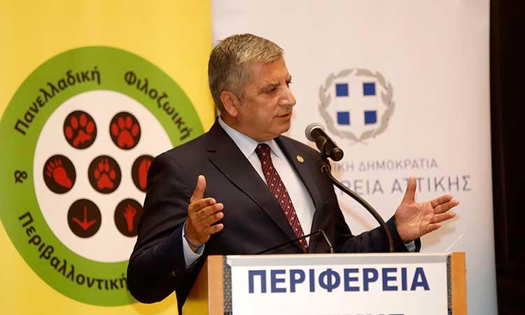 Γ. Πατούλης: Η Περιφέρεια Αττικής θα συμβάλλει στην εντατικοποίηση της εκστρατείας ενάντια στην κακοποίηση ζώων